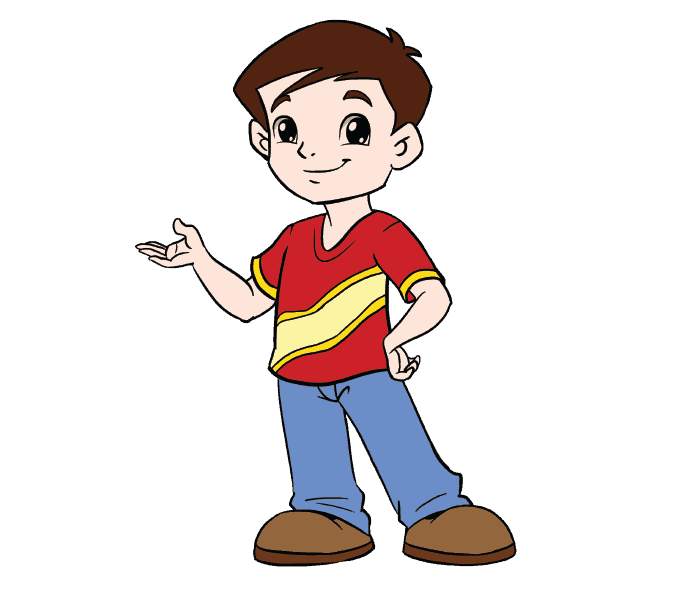 Cartoon Drawing Of A Boy