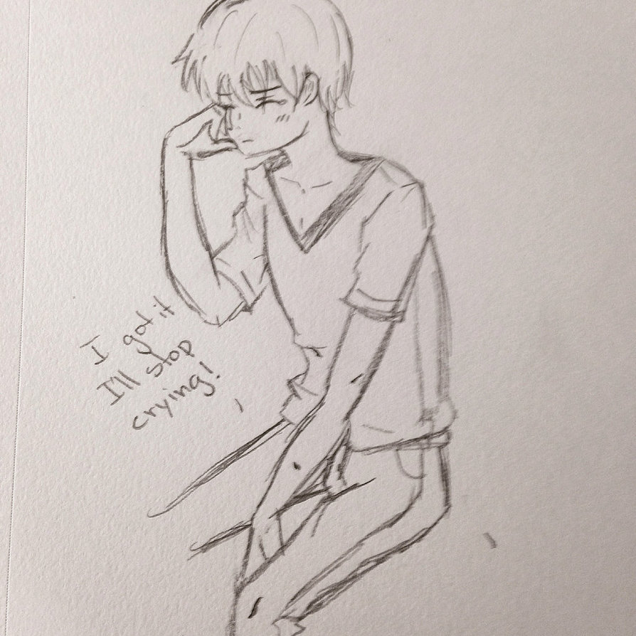 894x894 Crying Boy By Kurobunny Sama
