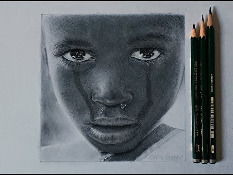 480x360 Drawing A Realistic Face Of A Child Crying