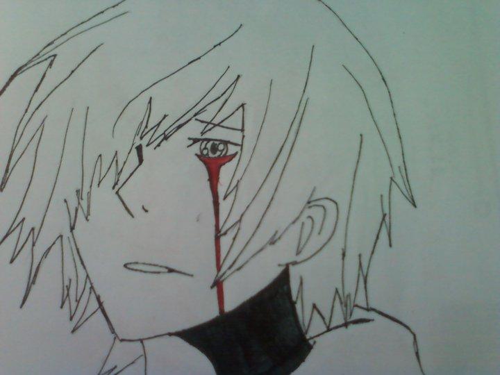 720x540 Anime Boy Crying Blood By Watashiwakareoai