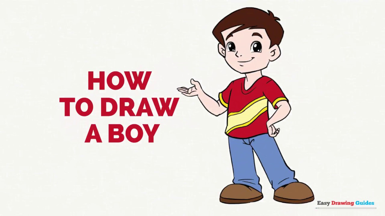 1280x720 How To Draw A Boy In A Few Easy Steps Drawing Tutorial For Kids