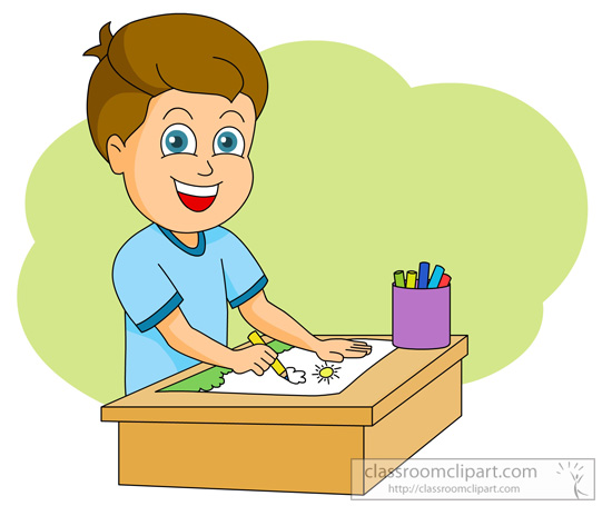 550x455 Art Supplies Clipart Boy Drawing 1030
