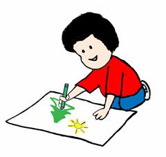 240x227 Happy Boy Drawing