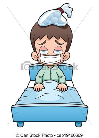 337x470 Vector Illustration Of Sick Boy Cartoon Clip Art Vector