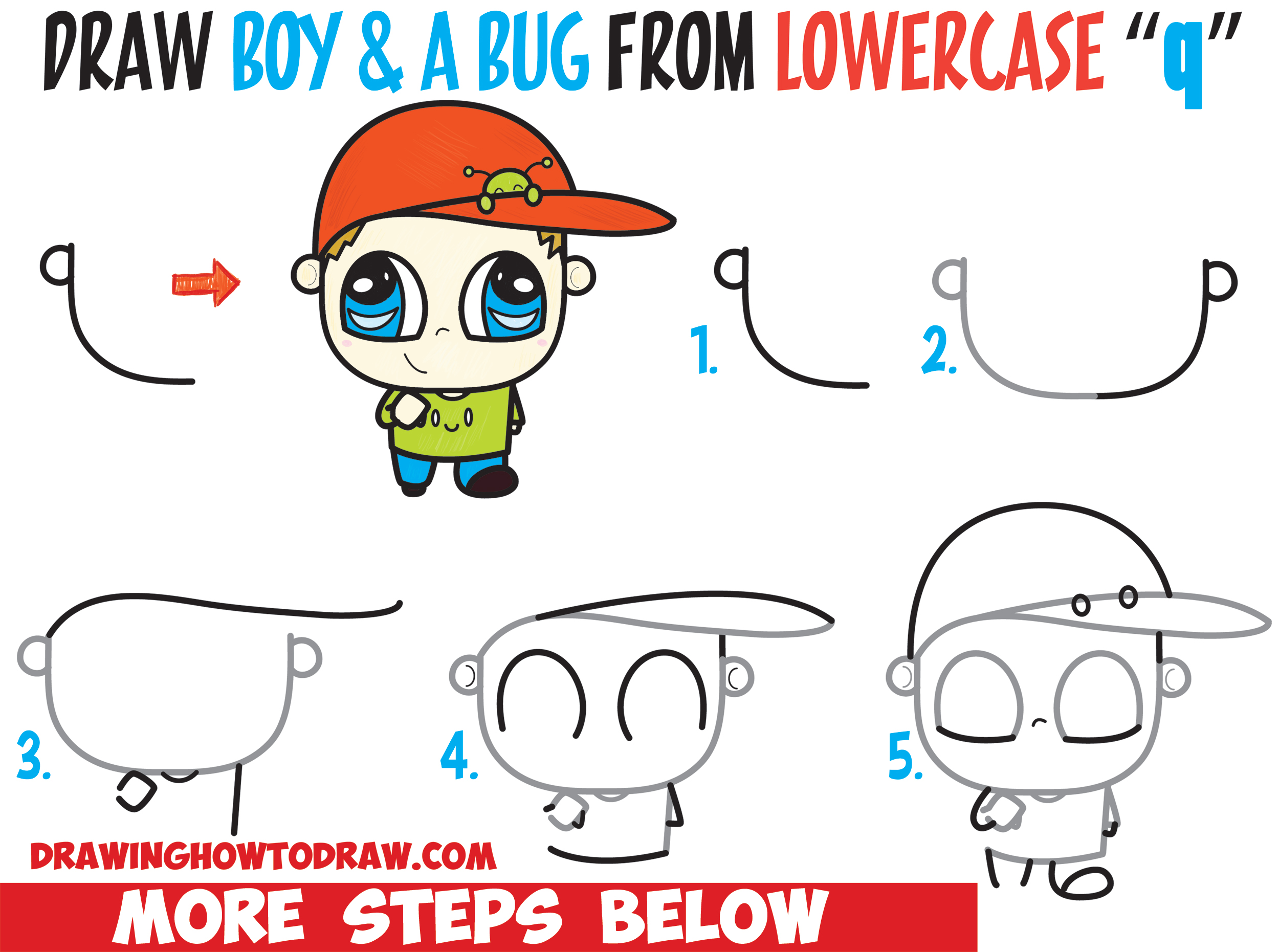 2500x1861 How To Draw A Chibi Boy With A Cute Bug On His Baseball Hat Easy