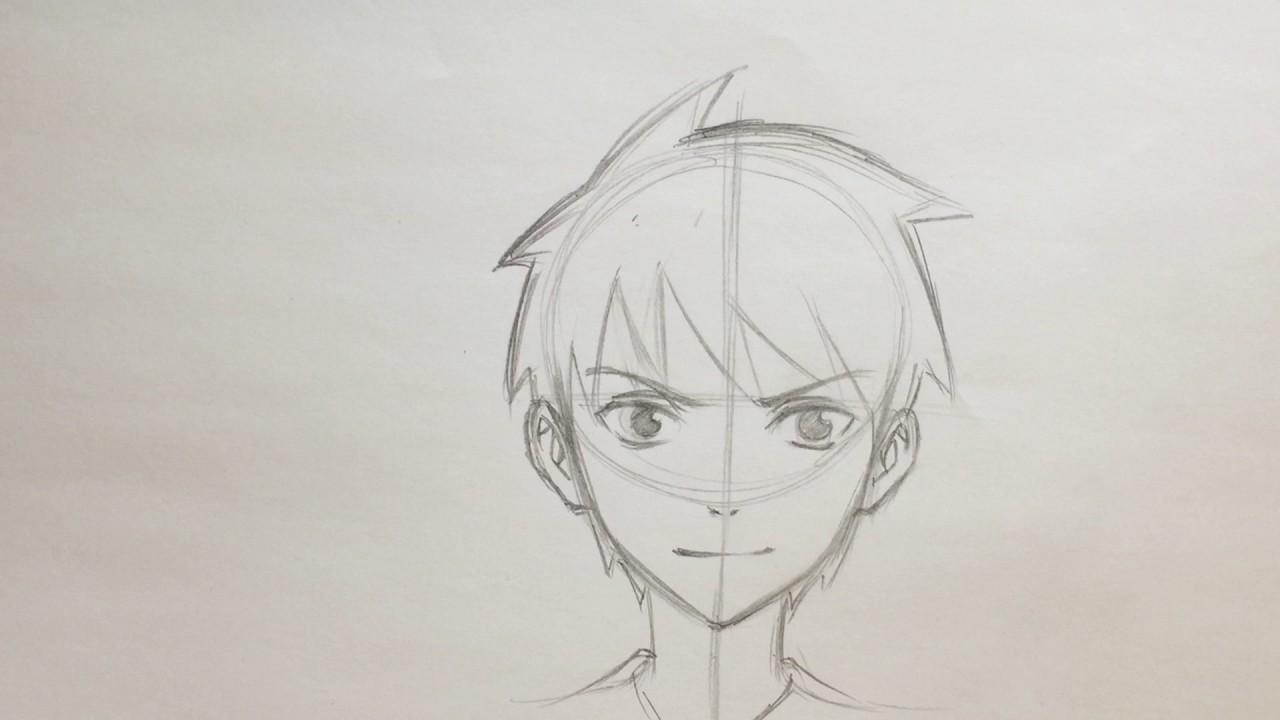 1280x720 Anime Boy Drawing