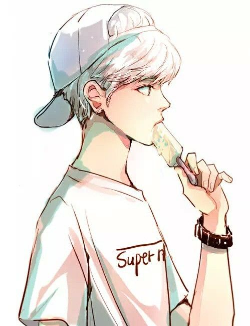 499x650 Imagen De Anime, Boy, And Ice Cream