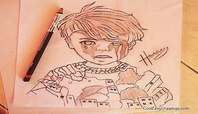 690x400 Omran Boy Drawing A Syrian Child Caught The World's Attention