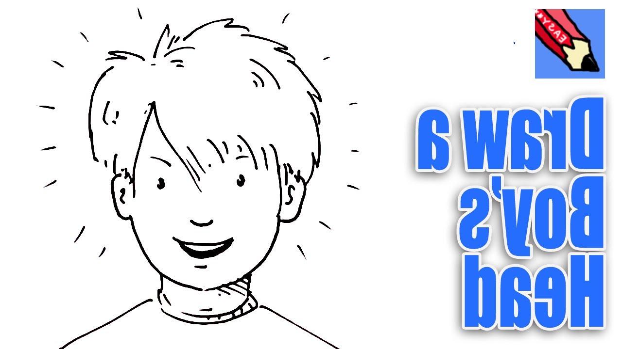 1280x720 Boy Face Drawing