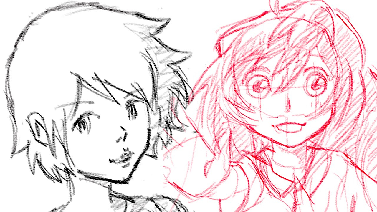 1280x720 Girl And Boy Face Drawing Pimp Up My Drawing Anime Style Boy