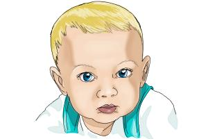 300x200 How To Draw A Baby Face
