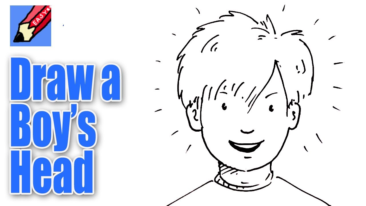 1280x720 How To Draw A Boy's Face From The Front Real Easy