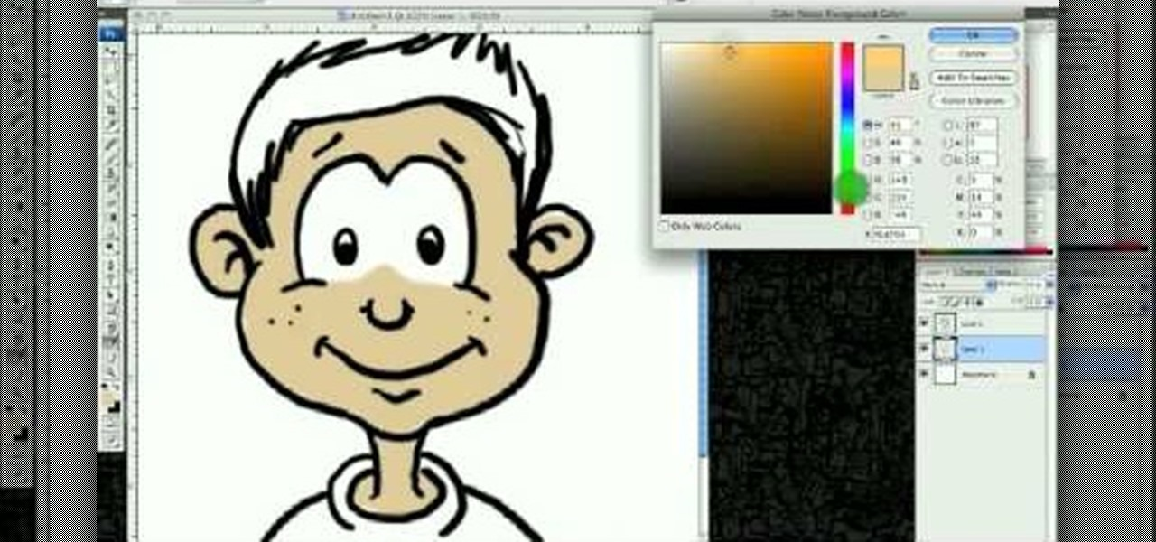 1280x600 How To Draw A Cartoon Boys Face In Adobe Photoshop Drawing