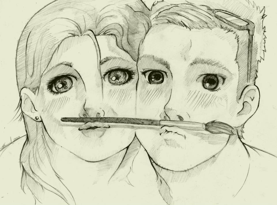 960x711 Boy Girl Drawing Photo By Benulis