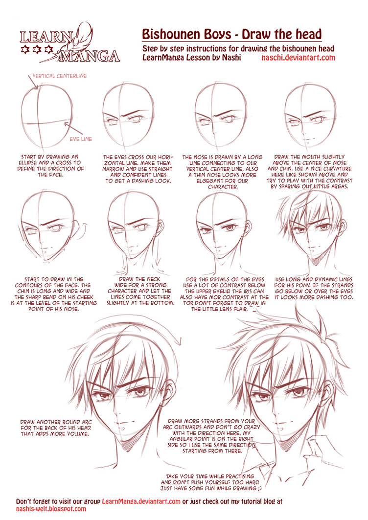 752x1063 Learn Manga Bishounen Boys