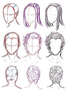 236x310 How To Draw Curly Hair Male