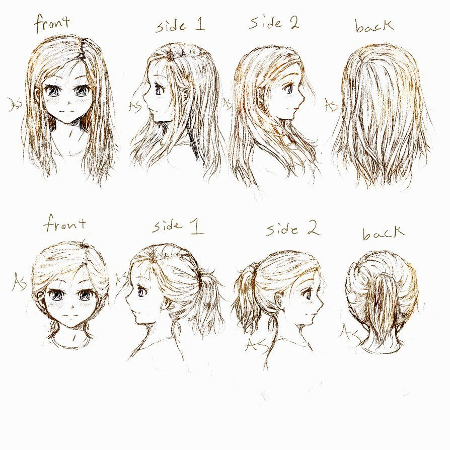 Anime Hairstyles For Guys Side View