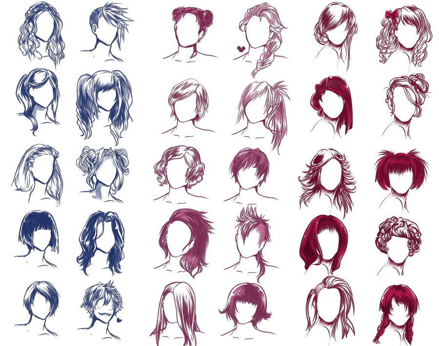 900x709 I Really Wanted To Draw Some Hair Styles By Solstice 11