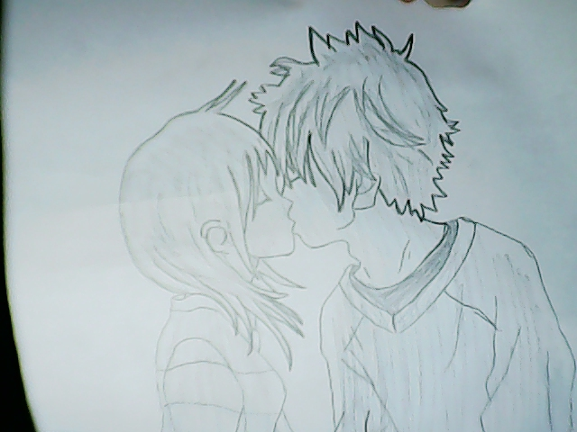 640x480 Boy And Girl Kissing ~ By Crazychickendog