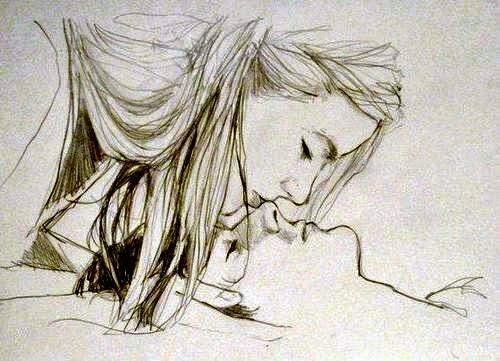 500x361 pencil sketches of couples and friends kiss zizing part iii
