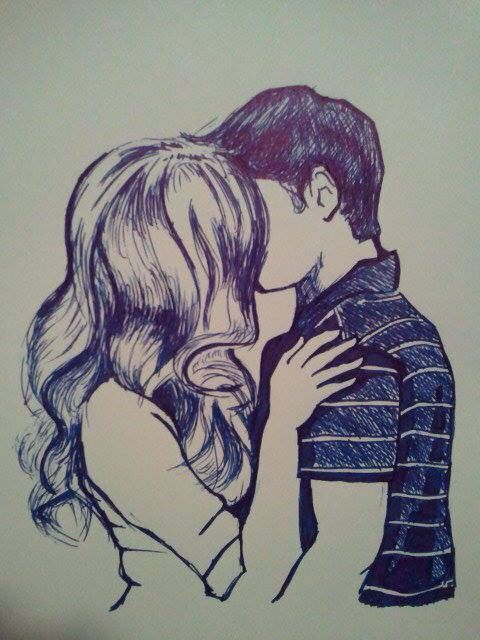 480x640 photos how to draw boy and girl kissing