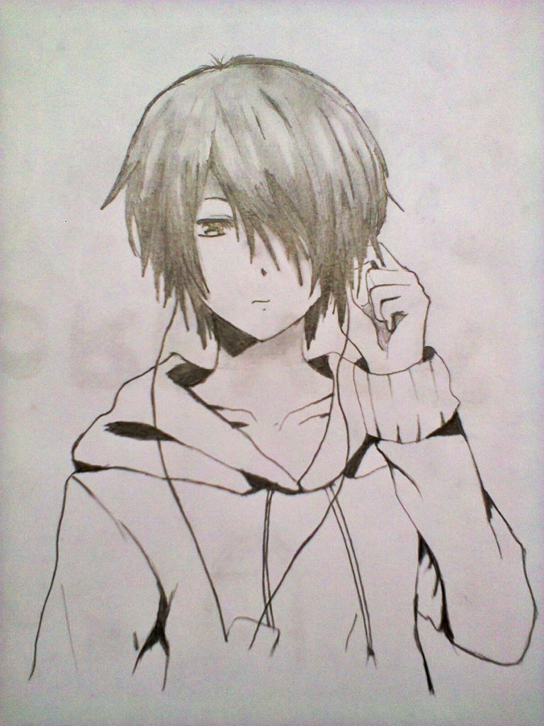 768x1024 Anime Boys Pencil Sketches Pics Anime Boy Pencil Sketch Anime Boy