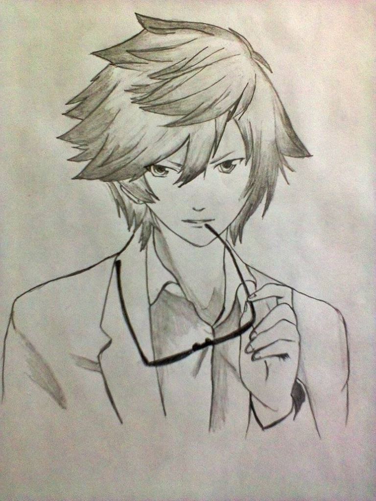 768x1024 Cool Boy Pencil Sketch Boy Anime Drawings In Pencil Tag Anime Boy