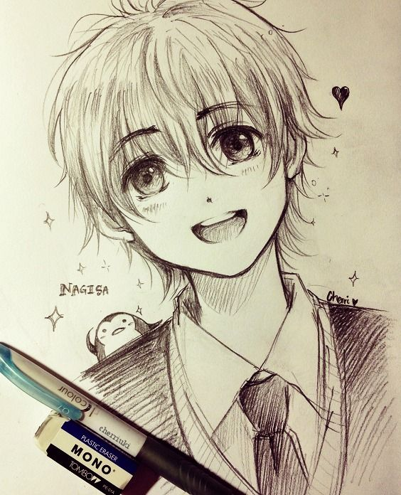 564x696 Cho Cute Anime Pencil Sketch