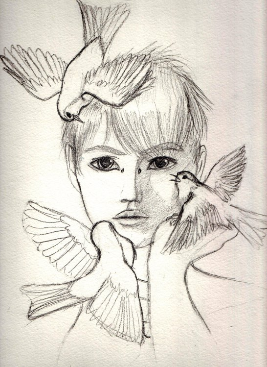 546x749 Boy With Birds
