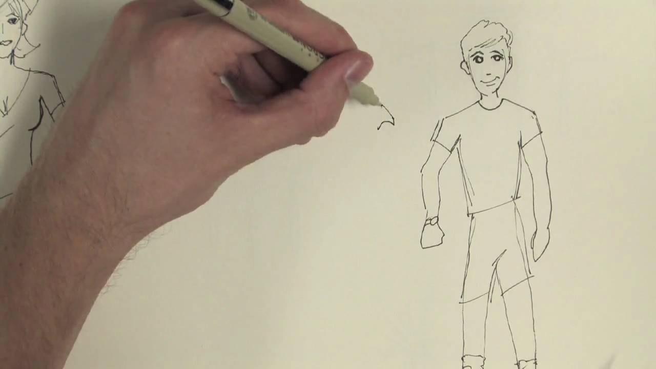 1280x720 Drawing Cartoons Amp Fashion How To Draw Boys' Clothes