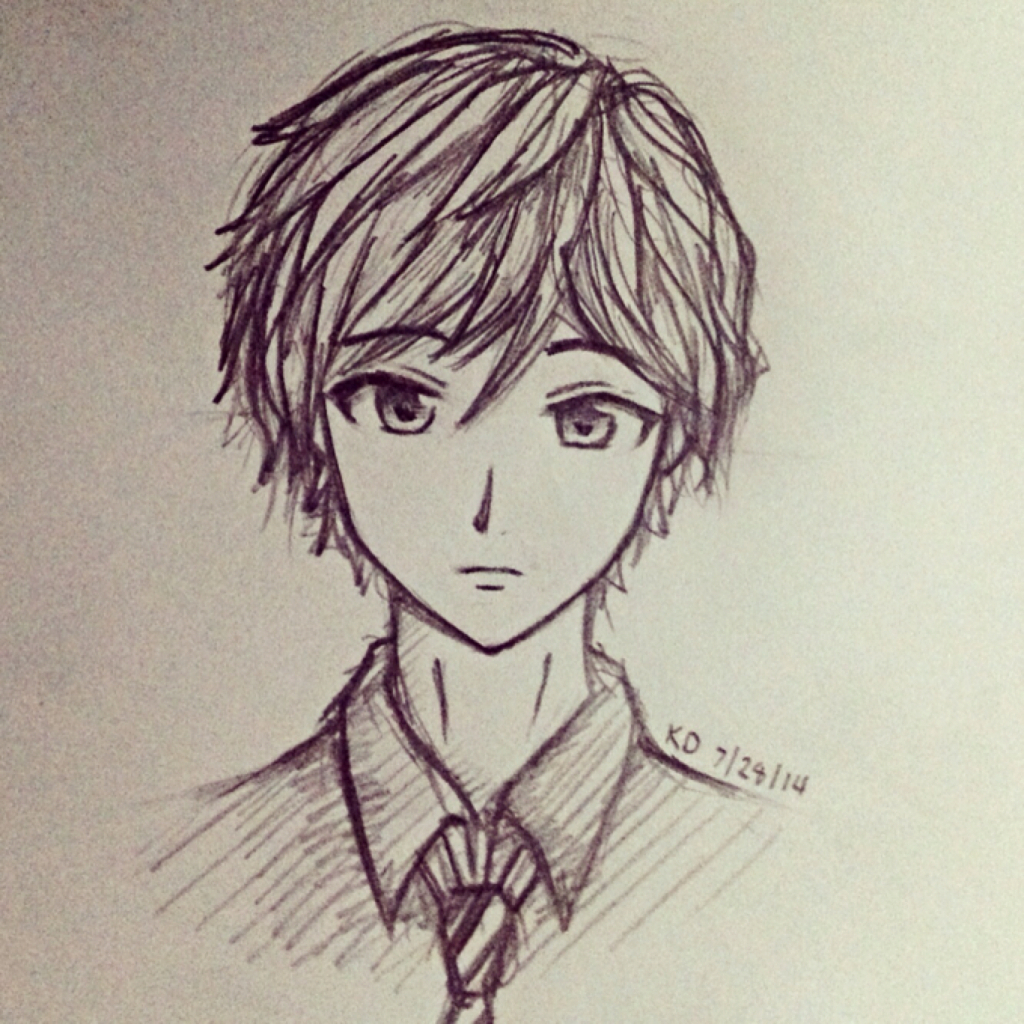 1024x1024 Emo Anime Boy Drawings Anime Boys Drawings In Pencil