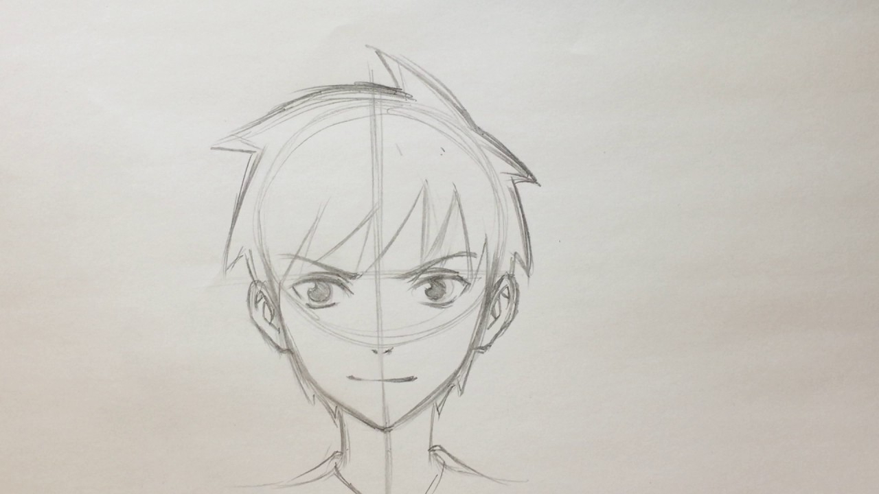1280x720 Drawing Anime Boy For Beginners How To Draw Anime Boy Face [No