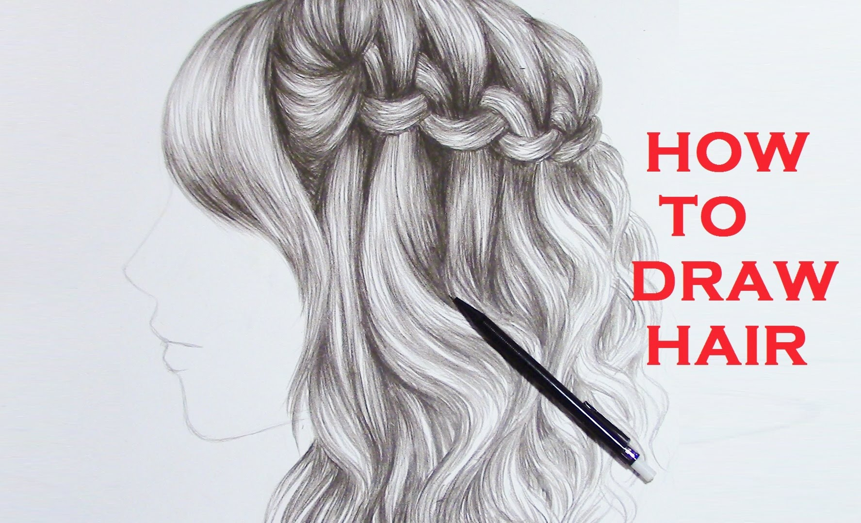 1775x1079 Braided Hair Drawing How To Draw A Plait Braid Hair Drawing
