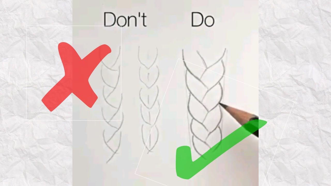 1280x720 How To Draw Realistic Braid Hair (Do's Amp Don'Ts)