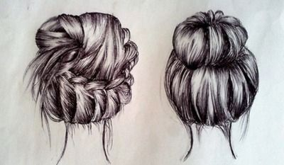 400x233 6 Cute Messy Hairstyles For Long Hair Drawings, Drawing Hair