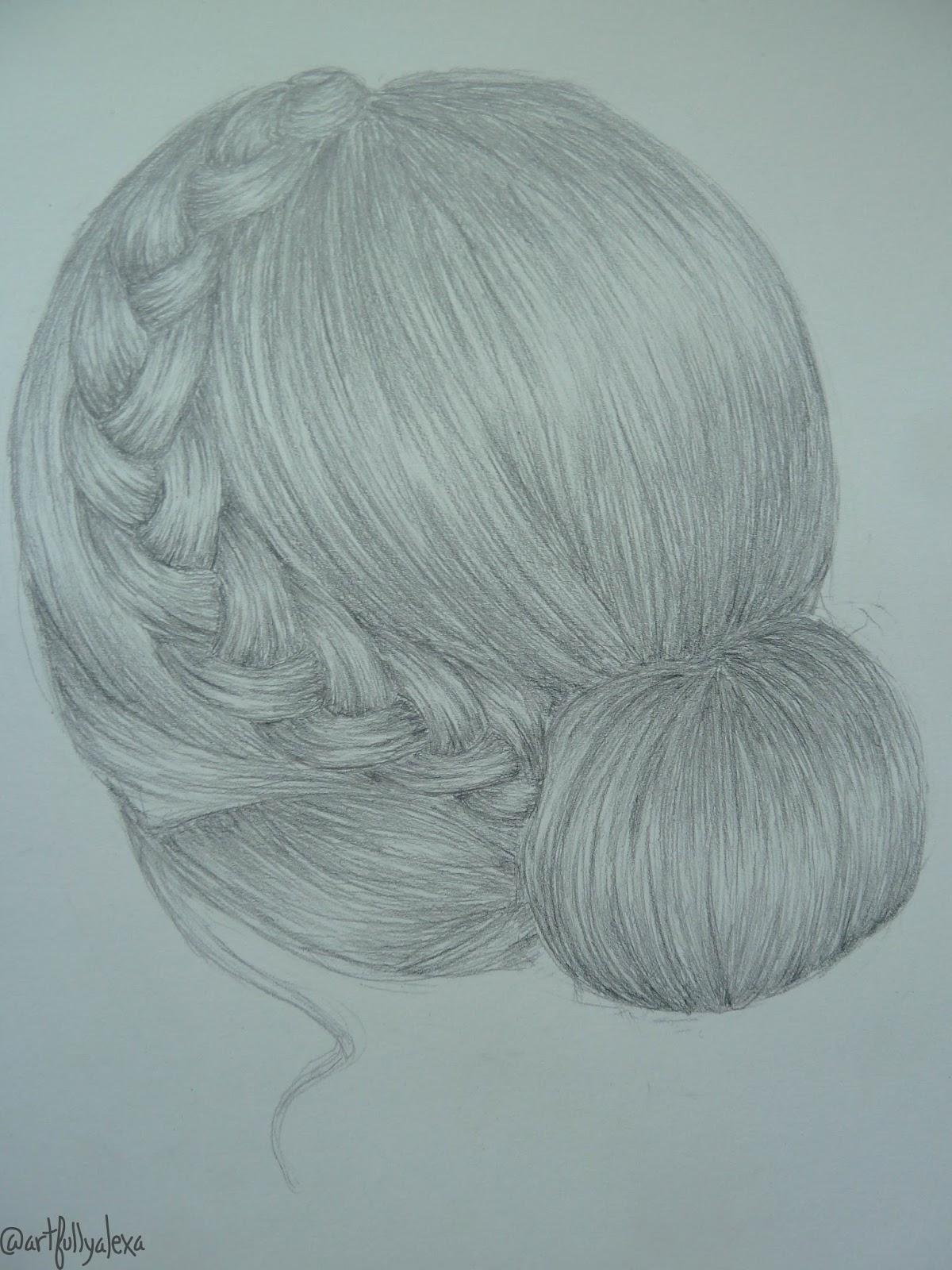 1200x1600 Artfully Alexa How To Draw A Braided Bun