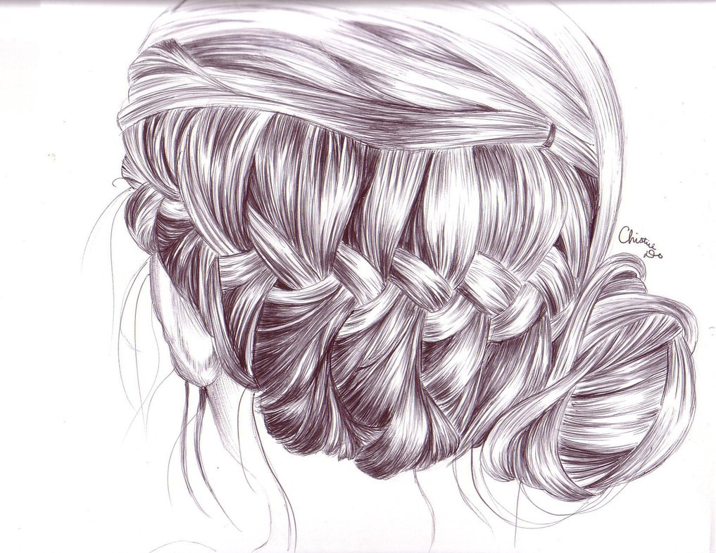 1017x786 Braid Hair Drawing By Tinespoon On Drawings
