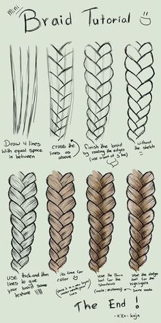 236x472 Gallery How To Draw Braided Hair,