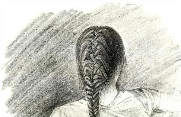 600x387 Hair Drawings