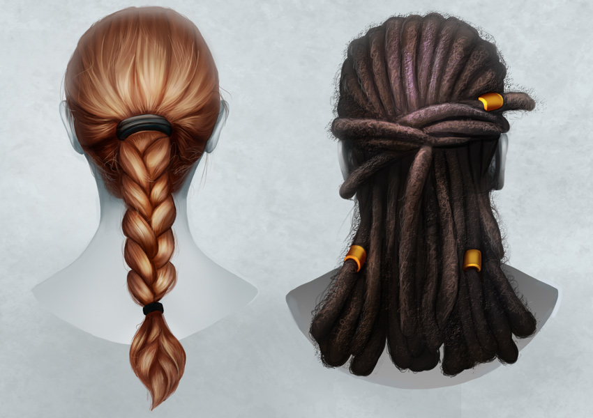 850x600 How To Paint Realistic Hair In Adobe Photoshop Braids And Dreadlocks