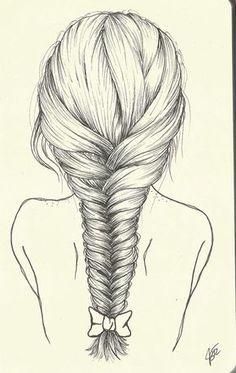 236x373 My New French Braid Pen Drawing! Hair French Braid
