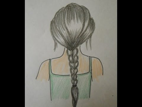 480x360 How To Draw Hair Braids Easy Drawing Step By Step For Kids