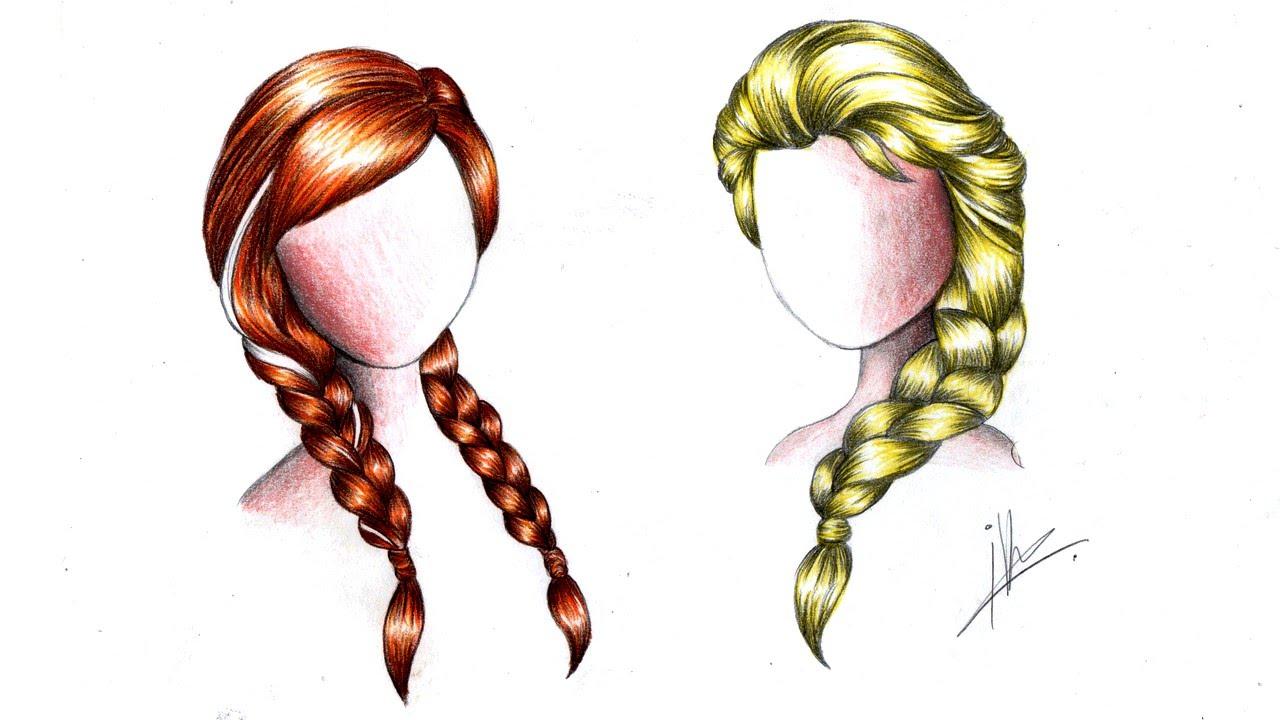 how to draw a braid i draw fashion - 1280×720