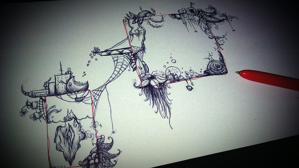 1024x575 Brain Parts Pen Drawing By Mssmime