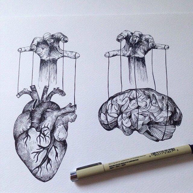 640x640 Brain And Heart Art Brain And Tattoo