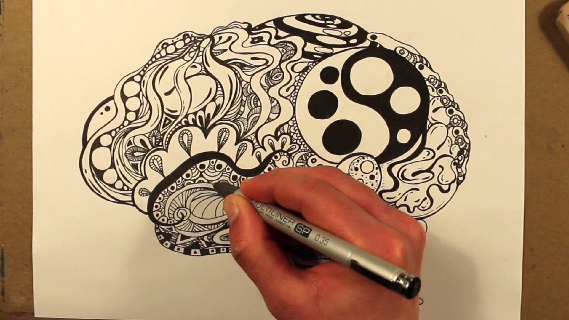 1920x1080 Drawing A Zentangle Brain