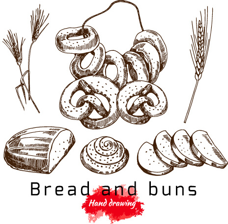 464x454 Bread Basket Drawing Free Vector Download (90,035 Free Vector)