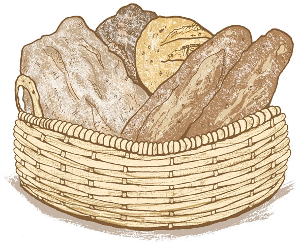 592x483 Drawing A Basket Of Bread Hoboken Pudding
