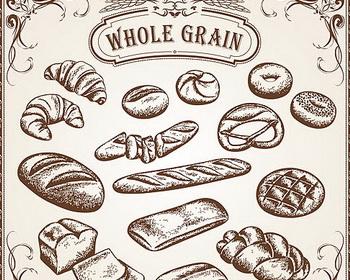 350x280 Vintage Bread Drawing Vector Rl1 Drawings, Vintage
