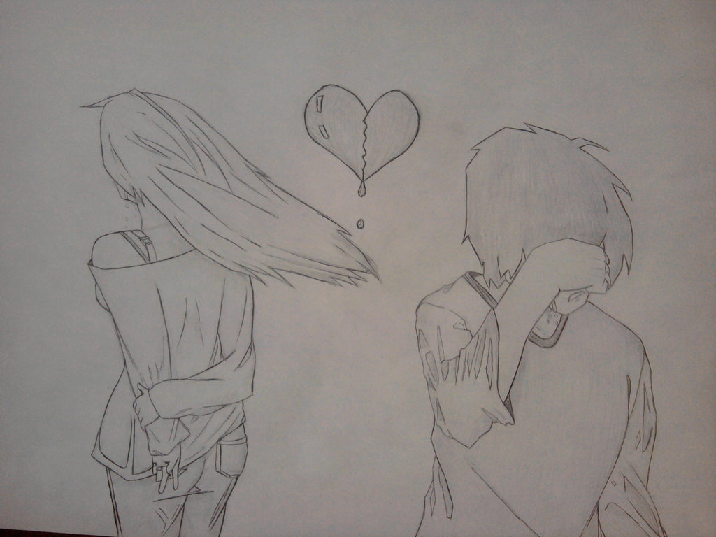 1024x768 Girls And Boys Breakup Drawings Simple Drawing Of Girl And Boys